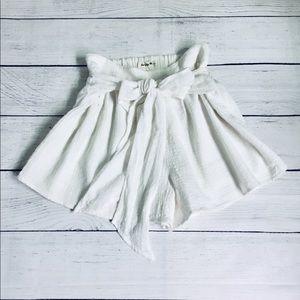 Girl & The Sun white cotton  high waisted shorts S